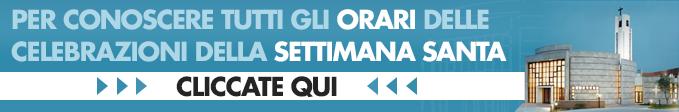 Banner Orari Settimana Santa 2015