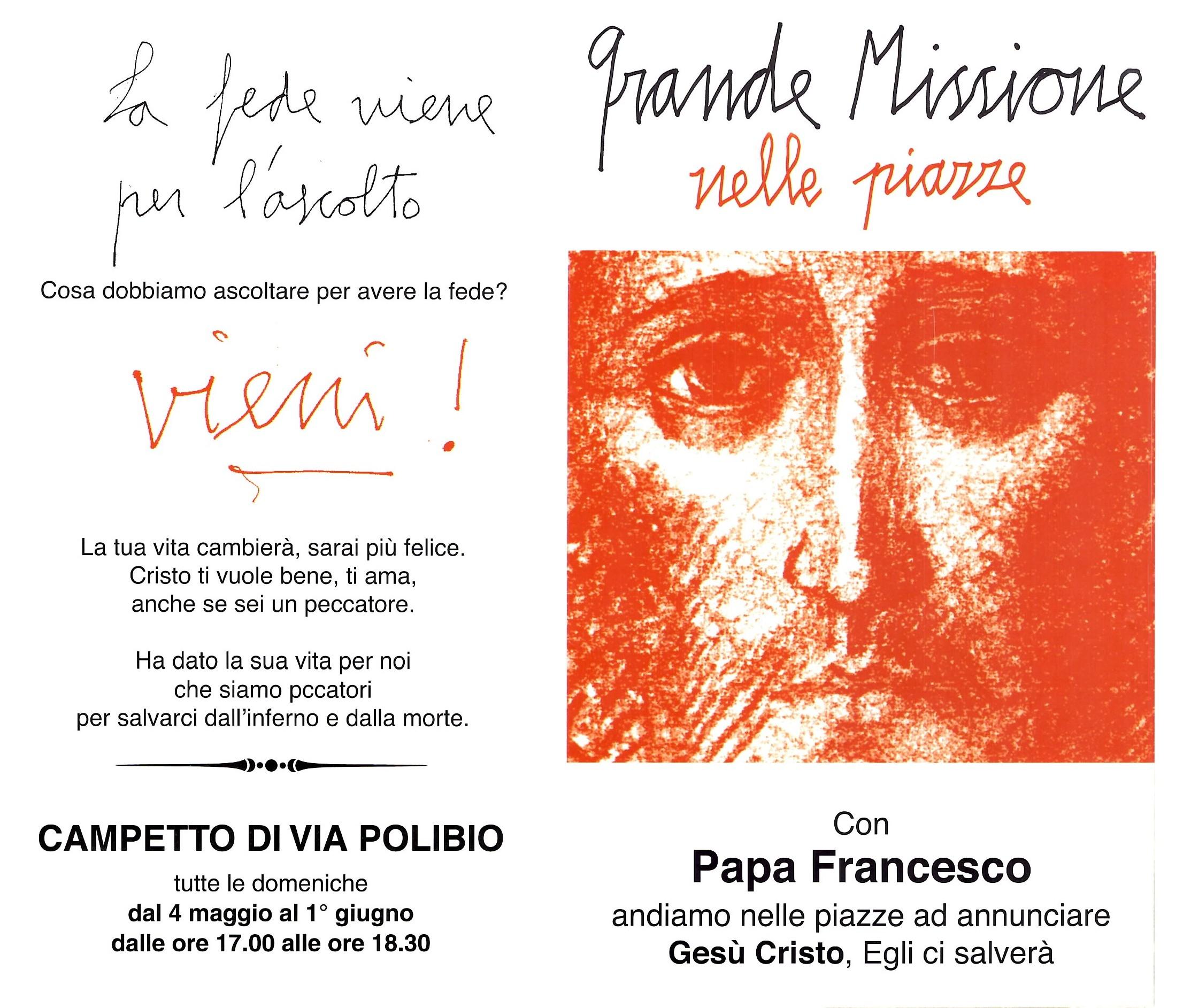 Missione nelle 100 piazze - Santa Maria dell'Orazione