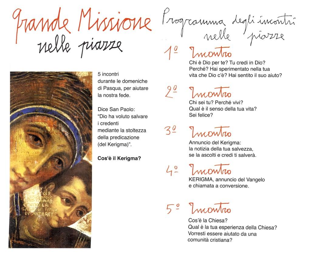 Missione 100 Piazze - Santa Maria dell'Orazione
