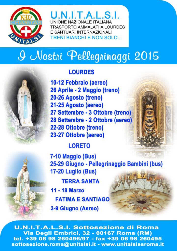 unitalsi volantino pellegrinaggi 2015